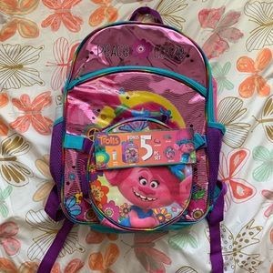 Other - Trolls 5 Piece Backpack